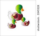 Isolated Ducks  Vector
