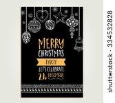vector christmas party...   Shutterstock .eps vector #334532828