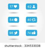 blue bubble notification icon... | Shutterstock .eps vector #334533038