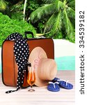 suitcase and accessories for... | Shutterstock . vector #334539182