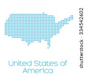 a map of the country of united... | Shutterstock . vector #334542602