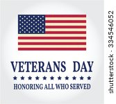 happy veterans day greeting... | Shutterstock .eps vector #334546052