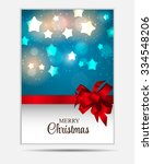 christmas website banner and... | Shutterstock .eps vector #334548206