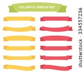 colorful ribbons and banners... | Shutterstock .eps vector #334557236