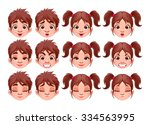 different expressions of boy... | Shutterstock .eps vector #334563995