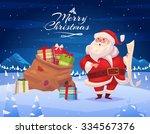 Funny Santa With Presents....