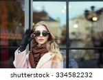 fashion photo of beautiful... | Shutterstock . vector #334582232