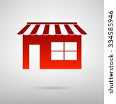 shop icon over white background ...   Shutterstock .eps vector #334585946