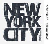 new york city typography... | Shutterstock .eps vector #334586072