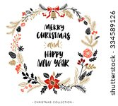 Christmas Greeting Wreath With...
