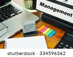 management   ring binder on... | Shutterstock . vector #334596362