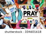 pray praying hope help... | Shutterstock . vector #334601618