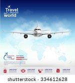 airline vector concept travel... | Shutterstock .eps vector #334612628