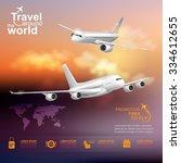 airline vector concept travel...   Shutterstock .eps vector #334612655