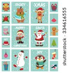vintage christmas poster design | Shutterstock .eps vector #334616555