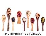 assortment of beans and lentils ... | Shutterstock . vector #334626206
