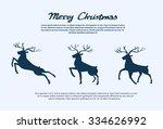 reindeer silhouette christmas... | Shutterstock .eps vector #334626992