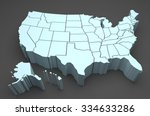 usa map | Shutterstock . vector #334633286