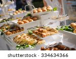 Catering Buffet Table With A...