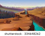 Canyon  Nature Vector Background