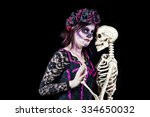 day of the dead. a woman... | Shutterstock . vector #334650032