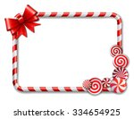 frame made of candy cane  with...