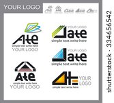 set of logos  corporate design | Shutterstock .eps vector #334656542