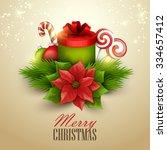 christmas background. vector... | Shutterstock .eps vector #334657412