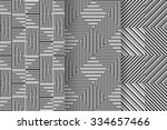 set of 3 abstract patterns.... | Shutterstock .eps vector #334657466