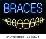 """neon sign series """"braces""""   Shutterstock . vector #3346675"""