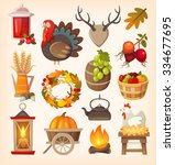 set of colorful vector graphic... | Shutterstock .eps vector #334677695