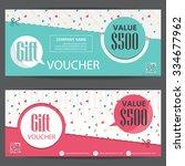 gift voucher certificate coupon ... | Shutterstock .eps vector #334677962