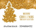 luxury christmas and new year... | Shutterstock .eps vector #334686452