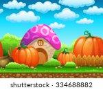cartoon fairy tale landscape....   Shutterstock .eps vector #334688882