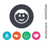 smile face sign icon. happy... | Shutterstock .eps vector #334692566