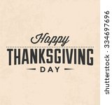 thanksgiving day typographic