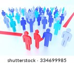 conceptual image of people... | Shutterstock . vector #334699985
