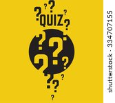 quiz background. the concept is ... | Shutterstock .eps vector #334707155