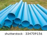 Blue Pipes For Construction On...