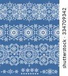 snowflake seamless  border... | Shutterstock .eps vector #334709342
