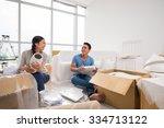 happy vietnamese family...   Shutterstock . vector #334713122