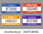 license car number plates set.... | Shutterstock .eps vector #334718006