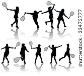vector tennis players | Shutterstock .eps vector #33472777