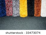 color samples of shaggy wool... | Shutterstock . vector #33473074