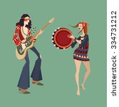 vector illustration of two... | Shutterstock .eps vector #334731212