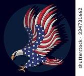 eagles flag american... | Shutterstock .eps vector #334731662