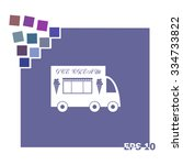 truck with ice cream vector... | Shutterstock .eps vector #334733822