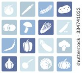 vector set of vegetables icons. ... | Shutterstock .eps vector #334741022