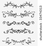 5 sets of decorative ornaments   Shutterstock .eps vector #33474313