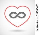 illustration of a line hearth...   Shutterstock .eps vector #334743485